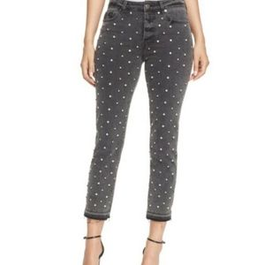 NWT Pistola Studded Ankle Jeans, 25